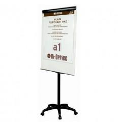 Флипчарт маркерный на роликах Bi-Office, 70х100 см, рама черная