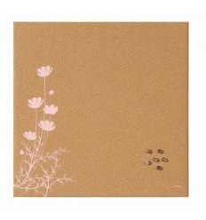 Доска пробковая Bi-Office Pink Flower 40х40см, без рамы