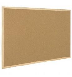 Доска пробковая Bi-Office 30х45см, деревянная рама
