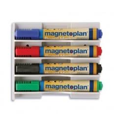 Держатель для маркеров магнитный Magnetoplan, белый, горизонтальный