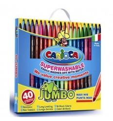 Набор фломастеров Carioca Jumbo MAXI 40569, 40 цветов