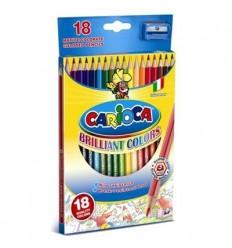 Карандаши цветные шестигранные Carioca 41865, 18 цветов