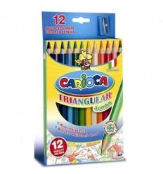 Карандаши цветные трехгранные Carioca 42393, 12 цветов