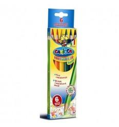 Карандаши цветные трехгранные Carioca 42395, 6 цветов