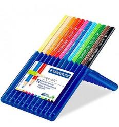 Набор треугольных цветных карандашей STAEDTLER Ergosoft, 12 цветов
