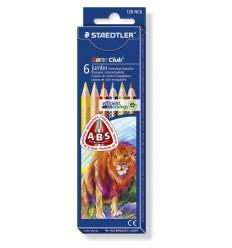 Набор цветных треугольных карандашей STAEDTLER  Noris Club, 6 цветов