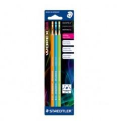 Набор чернографитных карандашей STAEDTLER WOPEX180, НВ, 3шт в упак