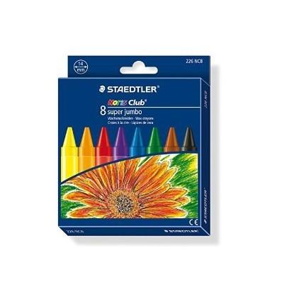 Набор восковых мелков STAEDTLER Noris Club Super Jumbo, 8 цветов, 14мм