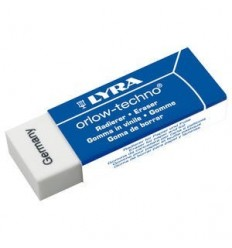 Ластик пластиковый самоочищающийся, LYRA orlow-techno-plastic, в картонном держателе