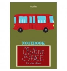 Тетрадь общая линейка Kroyter Креатив, А5, 48 листов, на скрепке