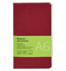 Блокнот клетка Attache Office Style бордовый, А6, 32 листа, на сшивке
