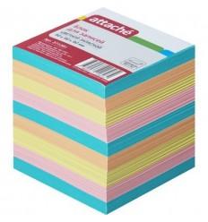 Блок-кубик разноцветный Attache запасной, 9х9х9