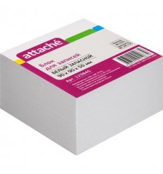 Блок-кубик запасной Attache белый, 9х9х5, 80 г/кв.м