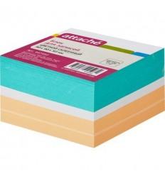 Блок-кубик на склейке Attache цветной, 9х9х5, 100 г/м2