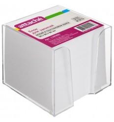 Блок-кубик Attache белый, 9х9х9, в прозрачном стакане