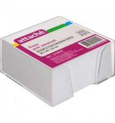 Блок-кубик Attache белый, 9х9х5, в прозрачном стакане