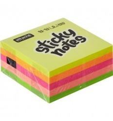 Куб с клейким краем 51х51 мм, неоновые, 5 цветов, 250 листов