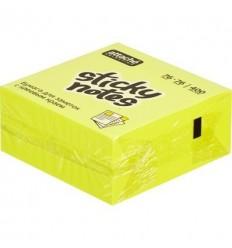 Куб с клейким краем Attache 76х76 мм, желтый неоновый, 400 листов