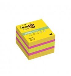 Куб с клейким краем Post-it OPTIMA 51х51 мм, лето, 3 цвета, 400 листов