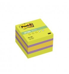 Куб с клейким краем Post-it OPTIMA 51х51 мм, весна, 3 цвета, 400 листов