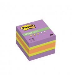 Куб с клейким краем Post-it OPTIMA 51х51 мм, зима, 3 цвета, 400 листов