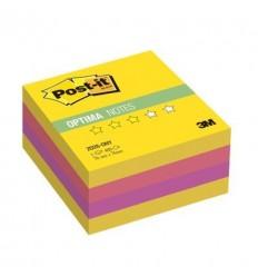 Куб с клейким краем Post-it OPTIMA 76х76 мм, лето, 4 цвета, 400 листов