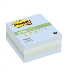 Куб с клейким краем Post-it OPTIMA 76х76 мм, зима, 3 цвета, 400 листов