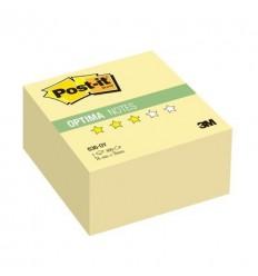Куб с клейким краем Post-it OPTIMA 76х76 мм, желтый пастельный, 400 листов