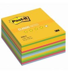 Куб с клейким краем Post-it CLASSIC 76х76 мм, неон мармелад, 6 цветов, 450 листов