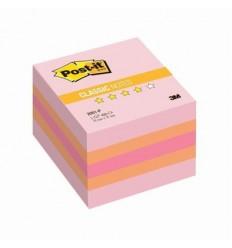 Куб с клейким краем Post-it CLASSIC 51х51 мм, розовая пастель, 3 цвета, 400 листов