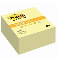 Куб с клейким краем Post-it BASIC 76х76 мм, желтый пастельный, 400 листов