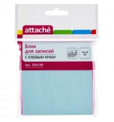 Бумага для заметок Attache 76х76мм, голубая, 100 листов