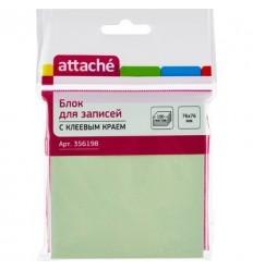 Бумага для заметок Attache 76х76мм, зеленая пастель, 100 листов