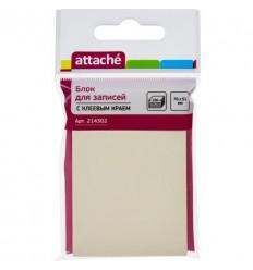 Бумага для заметок Attache 76х51мм, желтая пастель, 100 листов