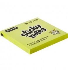 Бумага для заметок Attache Selection 76х76мм, желтый неон, 100 листов