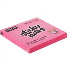Бумага для заметок Attache Selection 76х76мм, розовый неон, 100 листов