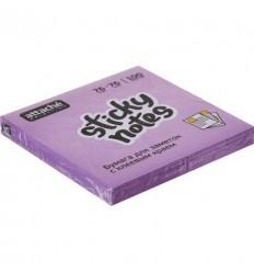 Бумага для заметок Attache Selection 76х76мм, фиолетовый неон, 100 листов