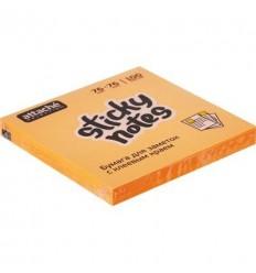 Бумага для заметок Attache Selection 76х76мм, оранжевый неон, 100 листов