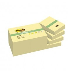 Бумага для заметок Post-it OPTIMA 38х51мм, Осень, желтая пастель, 12 блоков по 100 листов