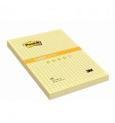 Бумага для заметок Post-it Classic 102х152мм, в клетку желтая, 100 листов