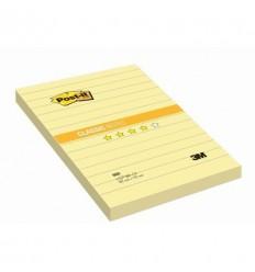 Бумага для заметок Post-it Classic 102х152мм, в линейку желтая, 100 листов