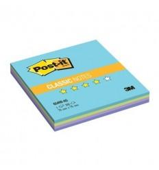 Бумага для заметок Post-it Classic 76х76мм, Радуга акватик, 100 листов