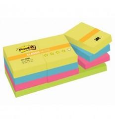 Бумага для заметок Post-it Classic 38х51мм, неоновая радуга, 12 блоков по 100 листов