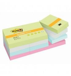 Бумага для заметок Post-it Classic 38х51мм, пастельная радуга, 12 блоков по 100 листов