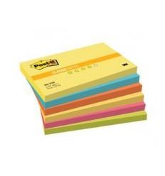 Бумага для заметок Post-it Classic 76х127мм, прилив энергии, 6 блокнотов по 100 листов