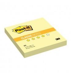 Бумага для заметок Post-it Classic 76х76мм, желтая пастель, 100 листов