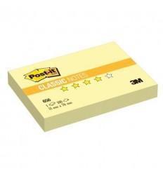 Бумага для заметок Post-it Classic 51x76мм, желтая пастель, 100 листов