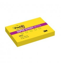 Бумага для заметок Post-it Super Sticky 76x51мм, желтый неон, 90 листов