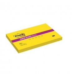 Бумага для заметок Post-it Super Sticky 76х127мм, желтый неон, 90 листов