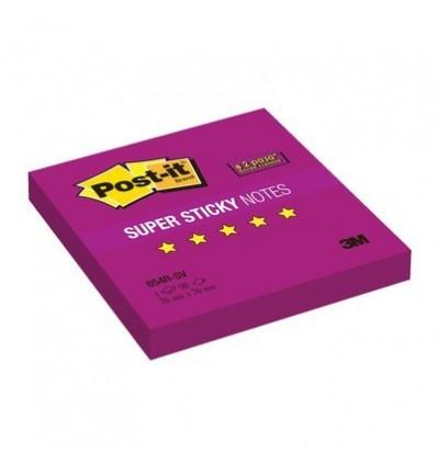 Бумага для заметок Post-it Super Sticky 76x76мм, фиолетовый неон, 90 листов